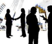 meeting handshake black figures