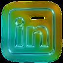 Linkedin Logo Neon