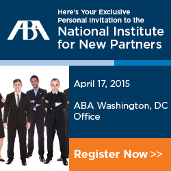 ABA Nat Inst New Partners April 17 2015 Wash DC