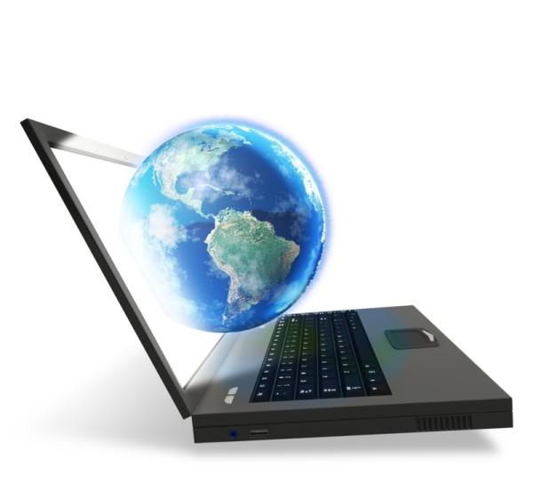 Computer Laptop World Globe