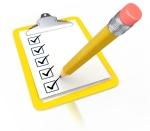 Checklist clipboard pencil