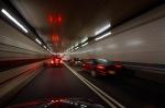 Traffic in tunnel