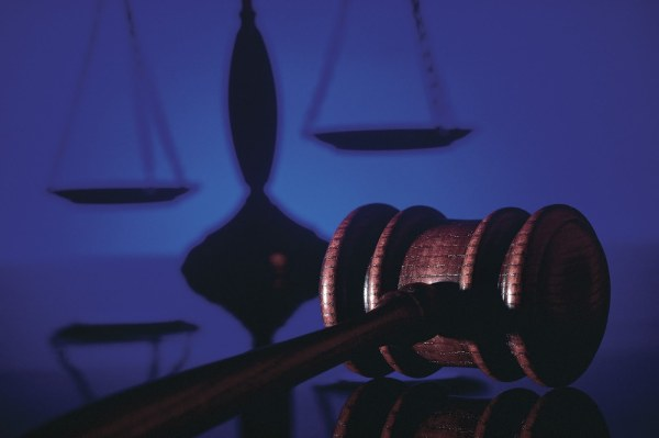 gavel scales of justice blue