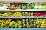 The fruit shelf in Leon supermarket.